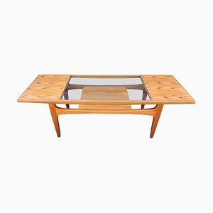 Table Basse en Teck et Verre par Victor Wilkins pour G-Plan, 1960s