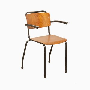 Black Model 206 School Chair from Gispen, 1960s