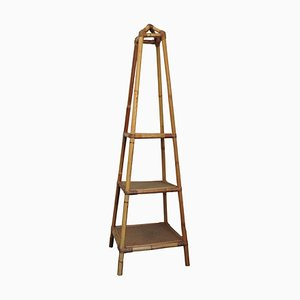 Soporte para plantas de bambú y caña con tres niveles, años 70