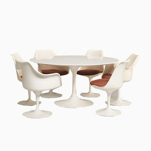Dining Table Set by Eero Saarinen for Knoll Inc., 1960s