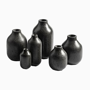 Etna 2 Vases by Martinelli Venezia Studio for Lithea, Set of 6