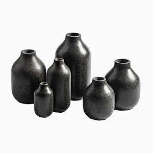 Vases Etna 2 par Martinelli Venezia Studio pour Lithea, Set de 6
