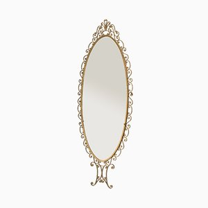 Italian Wrought Iron Golden Mirror by Pierluigi Colli, 1950s