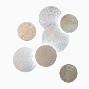 Backlit Corbulas Stone Panels by Pierluigi Piu for Lithea, Set of 7