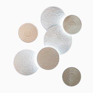 Paneles de piedra Corbulas retroiluminados de Pierluigi Piu para Lithea. Juego de 7