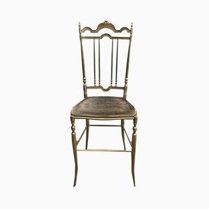 Neoklassizistische Stühle aus Messing, 1970er, 4er Set