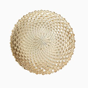 Mid-Century Spiked Glass Flush Mount, 1960s