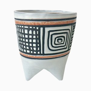 Vintage Molaire Vase von Roger Capron, 1957