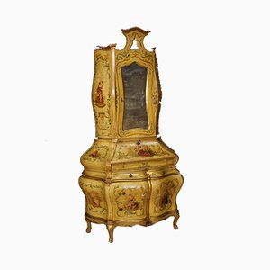 Vintage Venetian Gilded & Lacquered Trumeau