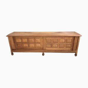 Solid Oak Sideboard by Guilherme and Chambron, 1950s