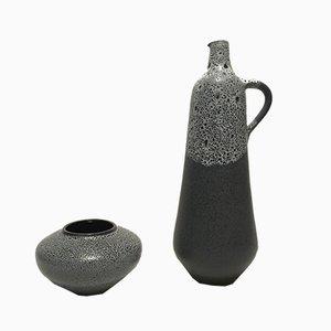 Vintage Vasen von Siegfried Gramann für Töpferei Römhild, 2er Set