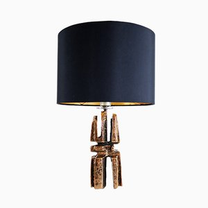 Vintage Brutalist Bronze Table Lamp, 1960s