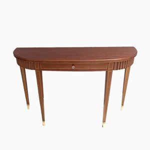 Mid-Century Mahogany Demilune Console Table by Paolo Buffa, 1950s