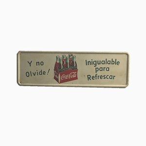 Cartel publicitario de Coca-Cola español, años 50