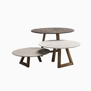 Tables Basses Nichi par Marella Ferrera pour Lithea, Set de 3