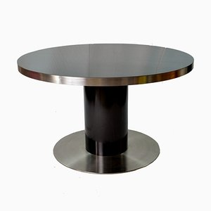 Table Laquée Noire par Willy Rizzo pour Mario Sabot, Italie, 1970s