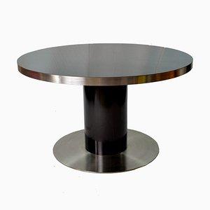 Tavolo laccato nero di Willy Rizzo per Mario Sabot, Italia, anni '70