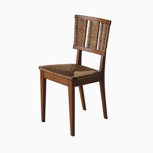Oak & Rush Chair by Mart Stam for Van Der Kley, 1930s