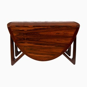 Mid-Century Rosewood Dining Table by Niels Koefoed