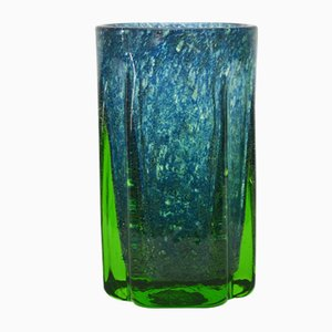 Mid-Century Norwegian Blown Glass Vase by Benny Motzfeldt for Randsfjord Glass, 1960s