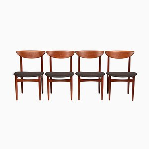Mid-Century Danish Teak Dining Chairs from Dyrlund, Set of 4