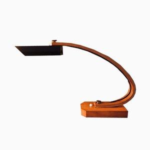 Lámpara Mid-Century de madera