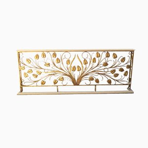 French Decorative Iron Railing, 1940s