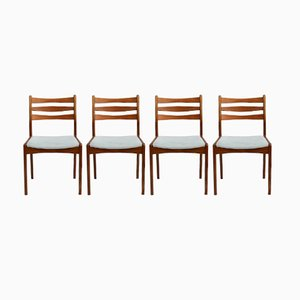 Vintage Danish Dining Chairs from Slagelse Møbelvaerk A/S, Set of 4