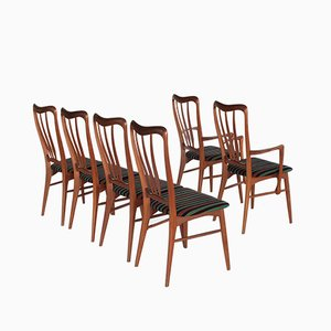 Ingrid Dining Chairs by Niels Koefoed for Hornslet, 1960s, Set of 6