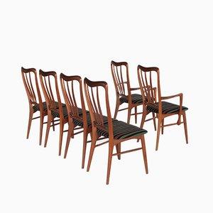 Ingrid Esszimmerstühle von Niels Koefoed für Hornslet, 1960er, 6er Set
