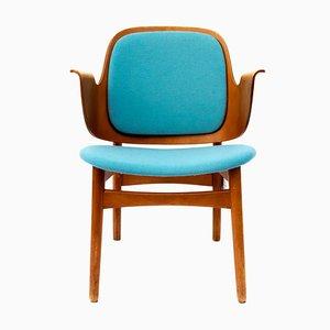 Vintage Armlehnstuhl aus Teak von Hans Olsen