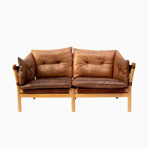 Vintage Leather Sofa by Arne Norell