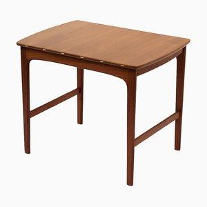Vintage Teak & Maple Side Table by Tove & Edvard Kindt-Larsen