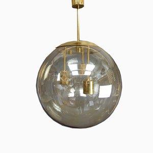 Große Deckenlampe aus Messing von Doria, 1970er