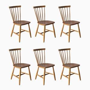 Schwedische Stühle aus Teak, 1960er, 6er Set