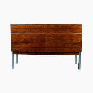 Small Vintage Chrome & Rosewood Sideboard