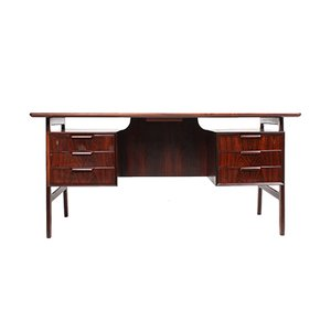 Mid-Century Rosewood Desk from Omann Jun, 1950s