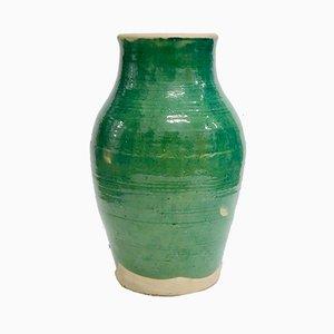 Großes handgemachtes Gefäß aus glasierter Terrakotta von Golnaz