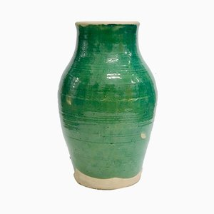 Large Handmade Glazed Terracotta Pot by Golnaz