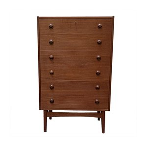 Mid-Century Teak Tallboy Chest of Drawers by Kai Kristiansen for Feldballes Møbelfabrik, 1960s