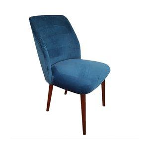 Mid-Century Retro Stuhl mit Samtbezug & Gestell aus Buche