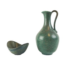 Vintage Ceramic Set by Gunnar Nylund for Rörstrand