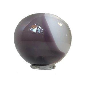 Kugelförmige Vintage Vase in Violett & Weiß von Holmegaard, 1980er