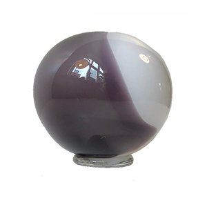 Vase Boule Vintage Violet et Blanc de Holmegaard, 1980s