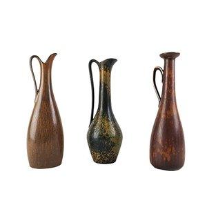 Vasi Mid-Century in ceramica di Gunnar Nylund per Rörstrand, set di 3