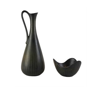 Mid-Century Ceramic Vase & Bowl by Gunnar Nylund for Rörstrand
