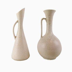 Jarrones Mid-Century grandes de cerámica de Gunnar Nylund para Rörstrand. Juego de 2