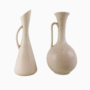Large Mid-Century Ceramic Vases by Gunnar Nylund for Rörstrand, Set of 2