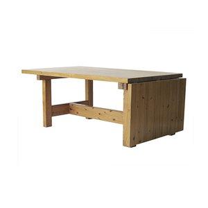 Mesa abatible sueca de pino macizo, años 70