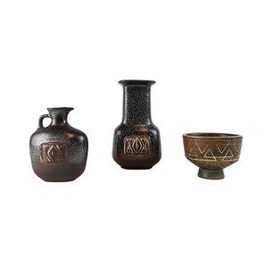 Mid-Century Keramikset von Gunnar Nylund für Rörstrand